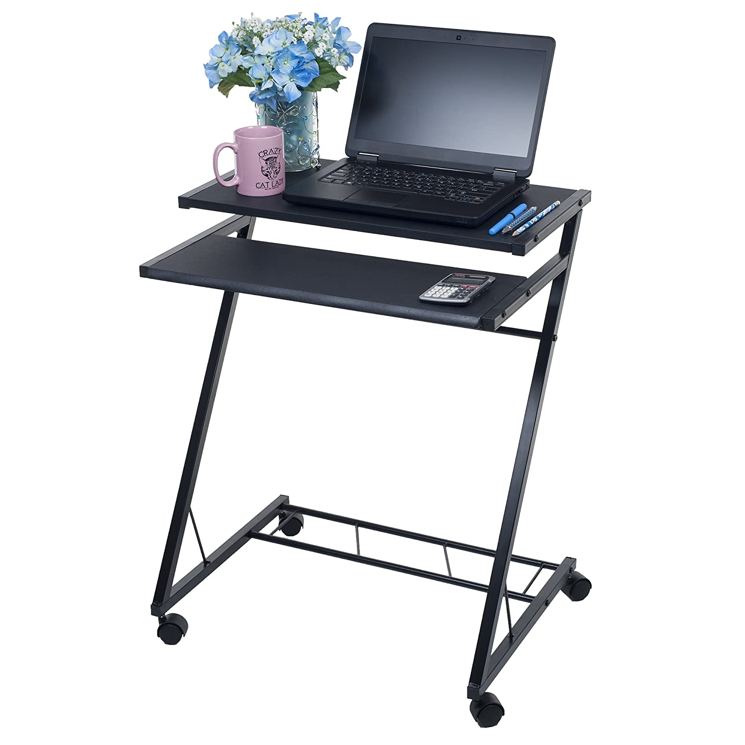 Lavish Home Mobile Rolling Cart Compact Computer Desk 80-CT10080
