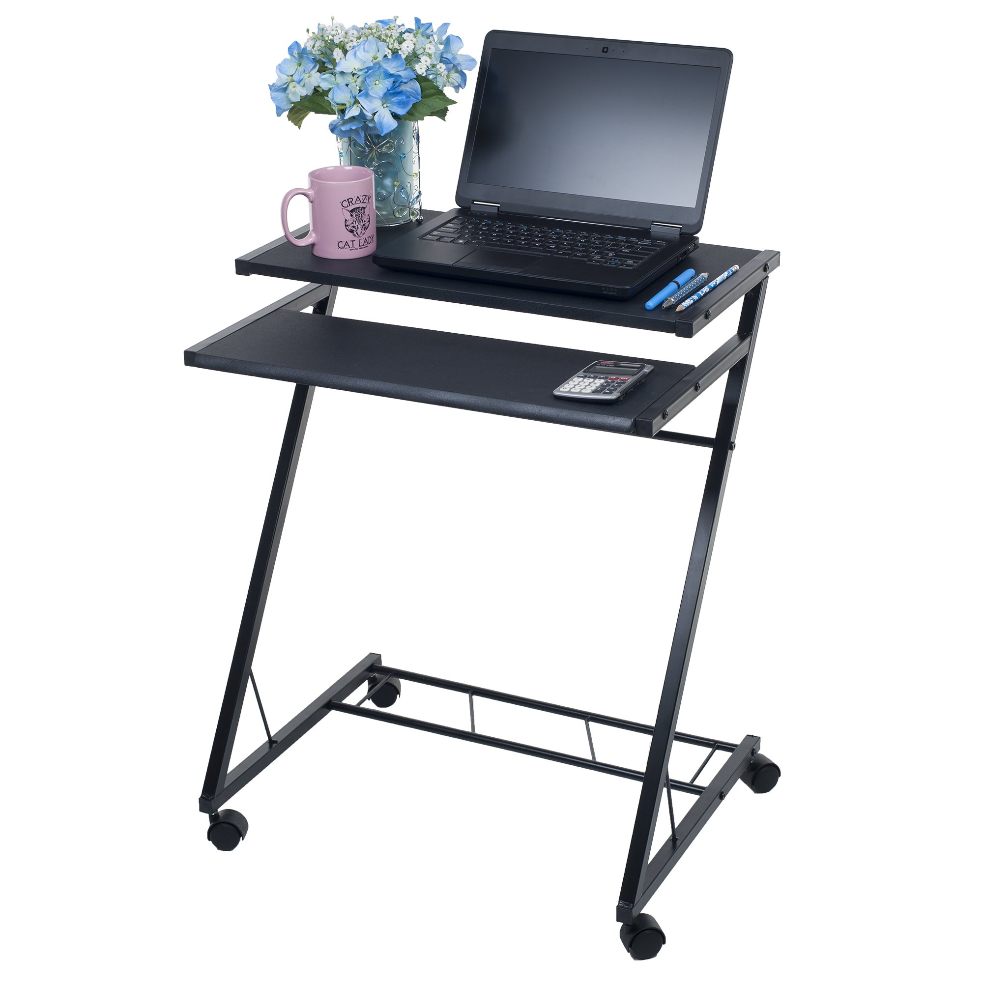 Lavish Home Mobile Rolling Cart Compact Computer Desk (80-CT10080) by Lavish Home