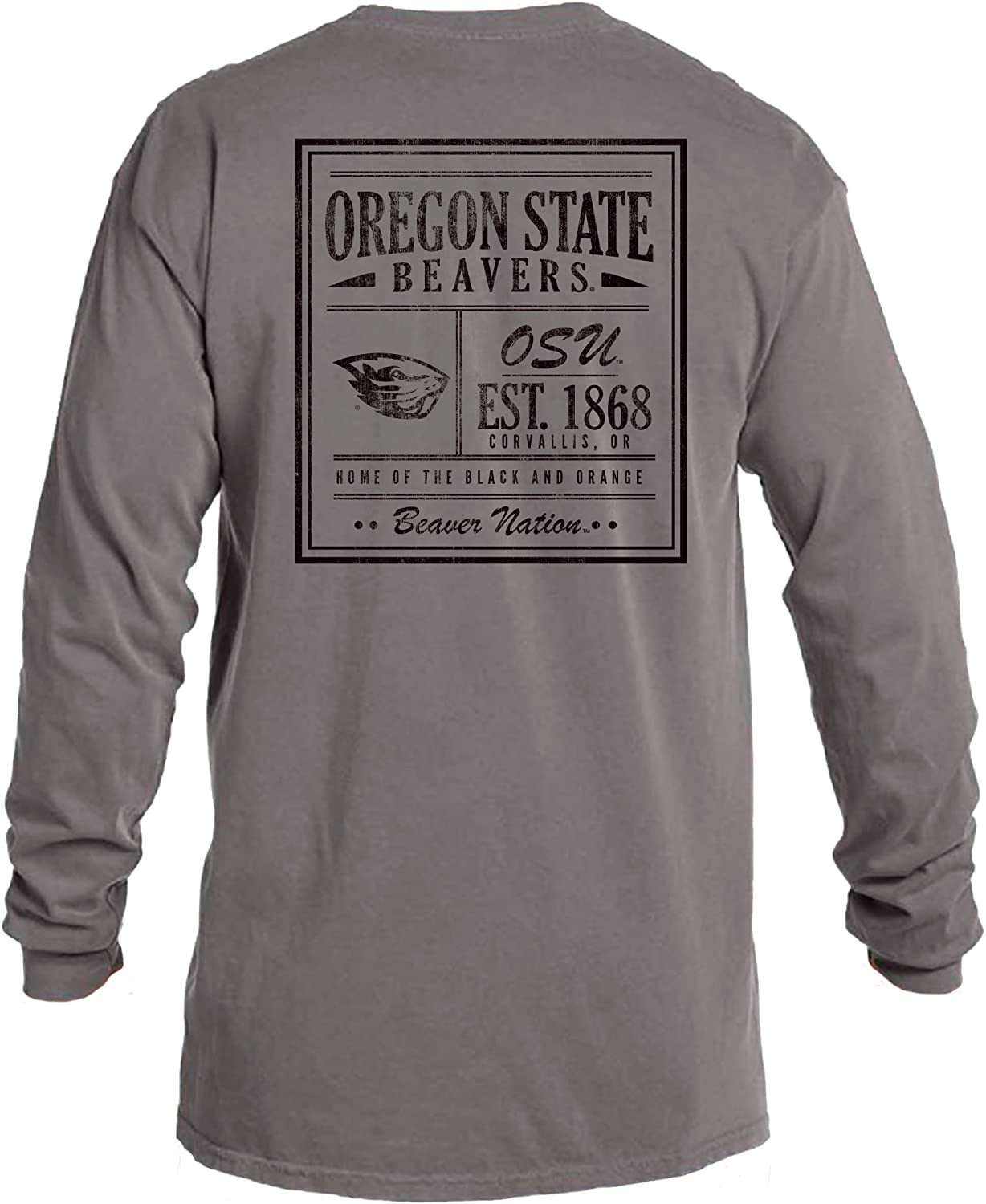 Image One NCAA Unisex-Adult NCAA Vintage Poster Comfort Color Long Sleeve T-Shirt