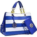 MMK collection Women Fashion Matching Satchel handbags with wallet(2526)~Designer Perfect Women Purse and wallet~ Beautiful Designer Handbag Set