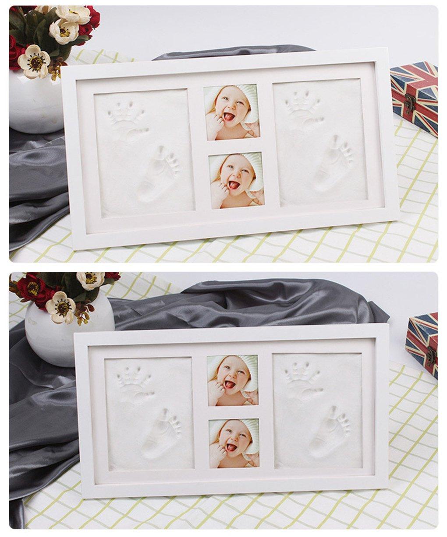 Foto Rahmen Wandbehang und Schreibtisch f/ür Neugeborene CFtrum Baby Handabdruck und Fu/ßabdruck Rahmen Andenken set f/ür Baby Baby Dusche oder Tauf Geschenk