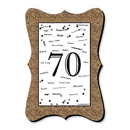 Amazon.com: Adulto 70 cumpleaños – oro – Único alternativa ...