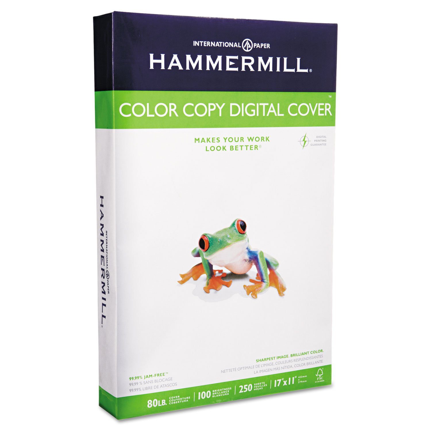 Hammermill 120037 Copier Digital Cover Stock, 80 lbs, 17 x 11, Photo White, 250 Sheets by Hammermill