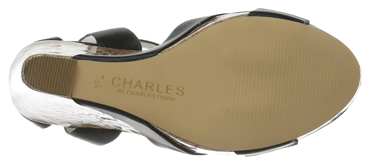 Charles by Wedge Charles David Women's Amsterdam Wedge by Sandal B01M3NOTS1 6.5 B(M) US|Black 0eac4d