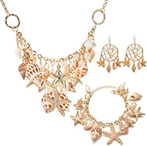 Win A Free Shell Necklace Starfish Conch Pearl Bracelet