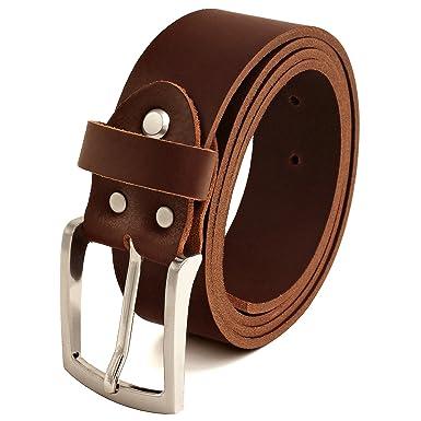 c9304890865440 Fa.Volmer ® Braune Ledergürtel aus Büffelleder, 38mm breit und ca. 3 ...