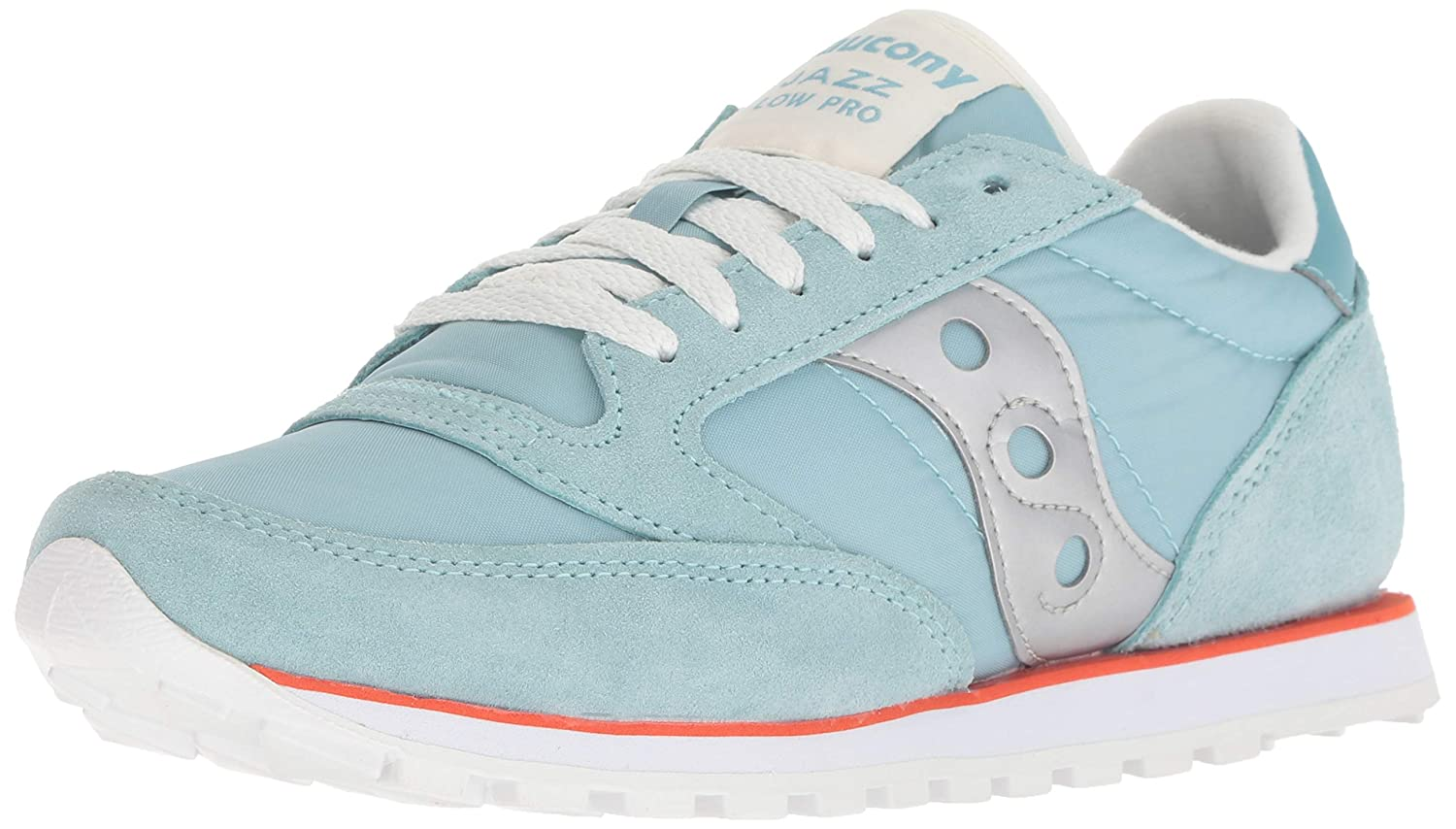 Seafoam orange Silver Saucony Originals Women's Jazz Lowpro Sneakers