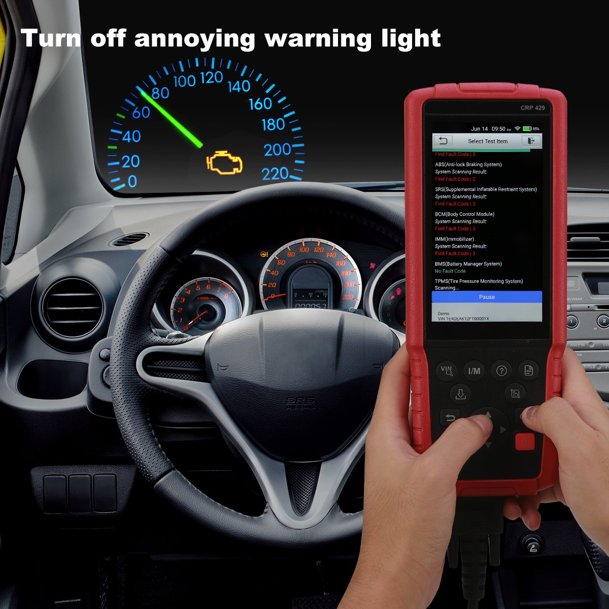 LAUNCH OBD2 Scanner CRP429 Advanced Full System Diagnostic Tool with ABS Bleeding, Injector Coding and IMMO, EPB, BMS, SAS, DPF,Oil Service Light Resets + One Year Free Update by LAUNCH (Image #7)