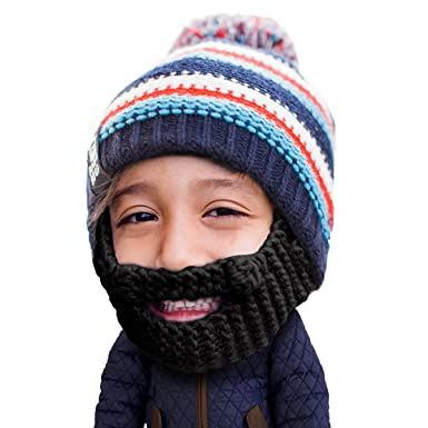 d8c045805a3 Beard Head Kid Gromm Beard Beanie -Knit Hat and Fake Beard for Kids and  Toddlers