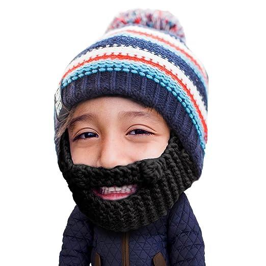 9bfce82e285 Beard Head Kid Gromm Beard Beanie -Knit Hat and Fake Beard for Kids and  Toddlers