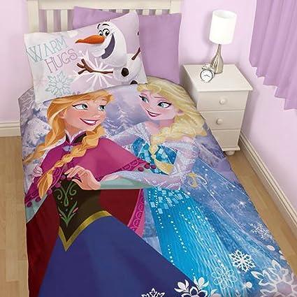 Amazon Funda Nordica Frozen.Disney Frozen Reversible Elsa Anna And Olaf Cotton Mix Single Bed Set Duvet Cover And Pillow Case