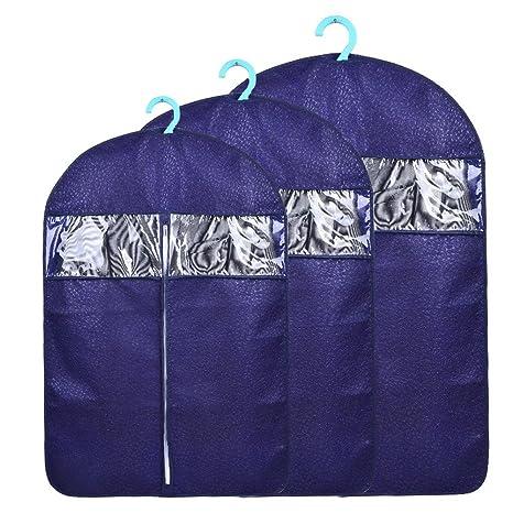 yius woy Pack de 3 tela no tejida ropa bolsas antipolillas ...