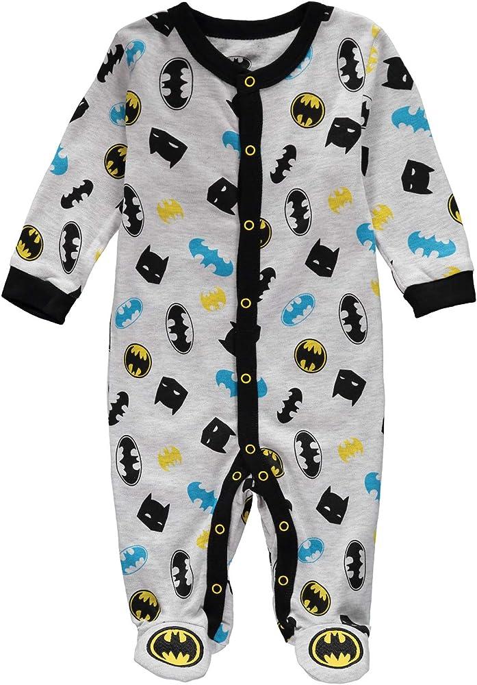 DC Comics Baby Boys Batman Footed Sleeper Pajama 24 Months