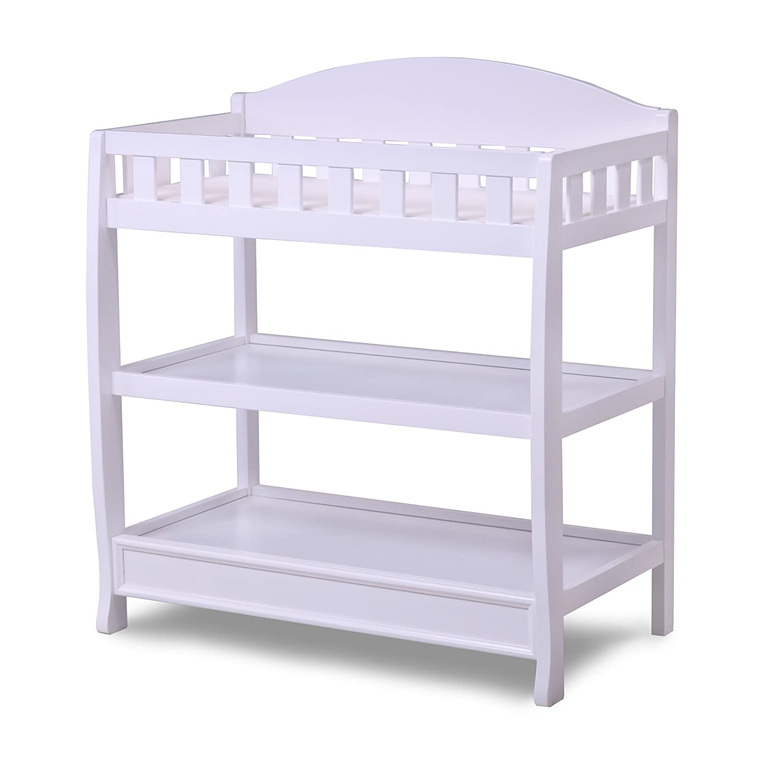 Changing Table Tray   Amazon Com Delta Children Infant Changing Table With  Pad White