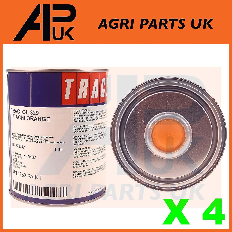 APUK 4 Litre Hitachi Orange Tractol Paint Construction Mini