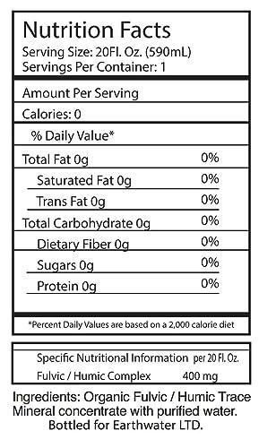 EarthWater FulHum - Agua alcalina con pH superior a 9 y rica en minerales fúlvicos, pack de 12 botellas de 60 cl, agua negra con electrolitos, ...