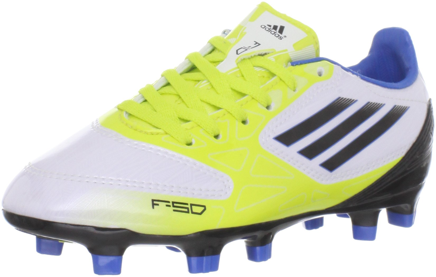 d8b48b43fd78d adidas F10 TRX FG Soccer Cleat (Little Kid/Big Kid),Running White/Black/Lab  Lime,2.5 M US Little Kid