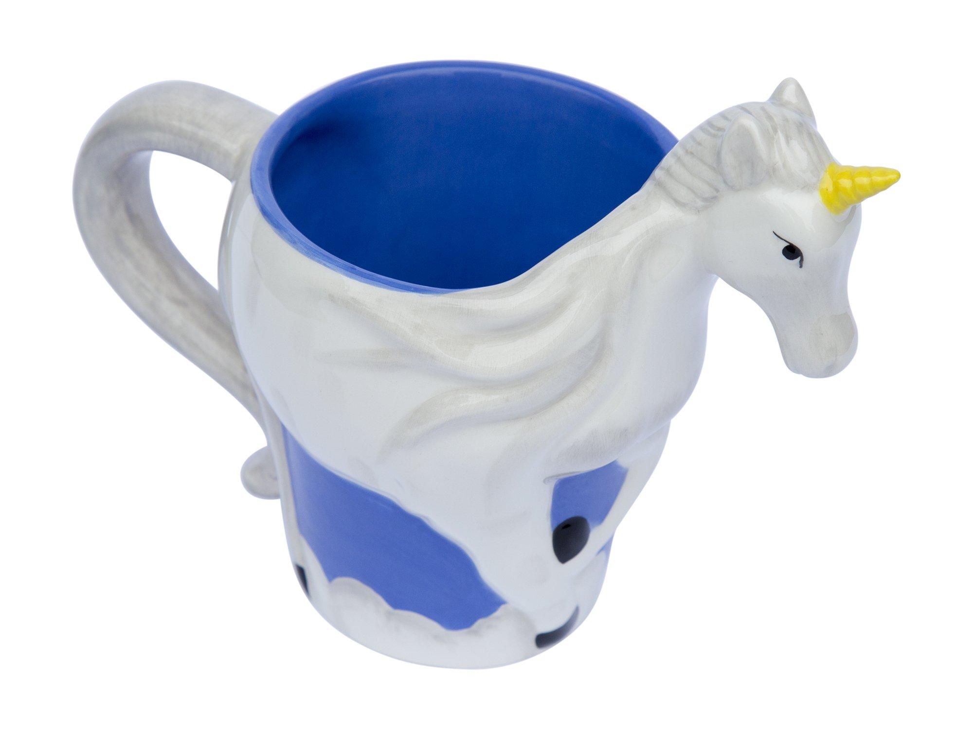 Ceramic Unicorn Coffee Mug w/ Rainbow by Comfify - Sweet & Fantastical 3D Unicorn Design w/ Magical Rainbow - Unique… 8