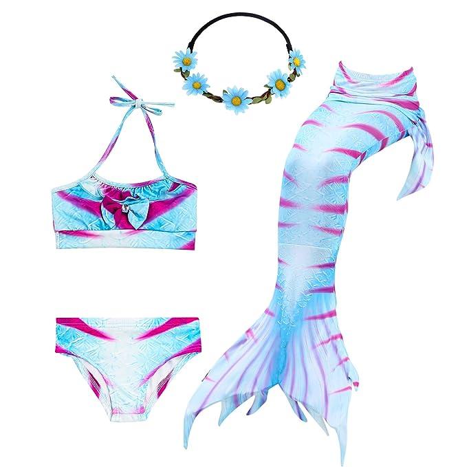 Amazon.com: Urbandesign cola de sirena para nadar 3 piezas ...