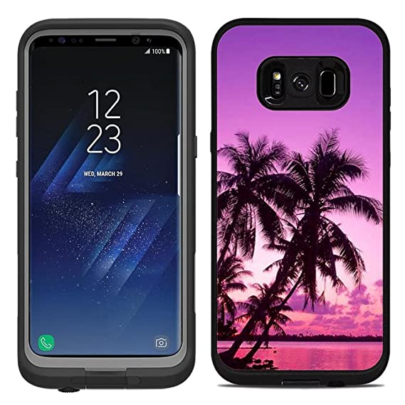 wholesale dealer 482f8 b0783 Protective Designer Vinyl Skin Decals / Stickers for Lifeproof Fre Samsung  Galaxy S8 Plus Case -Tropical Palm Trees Sunset Beach Design Patterns - ...