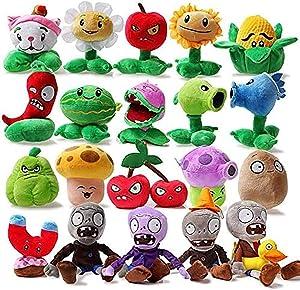 LDDZAU 20 Pieces/Set of Plant VS Zombie Plush Toy, Plant VS Zombie Plush Toy PVZ Plant Zombie Peashooter Sunflower Plush Toy, Decoration B