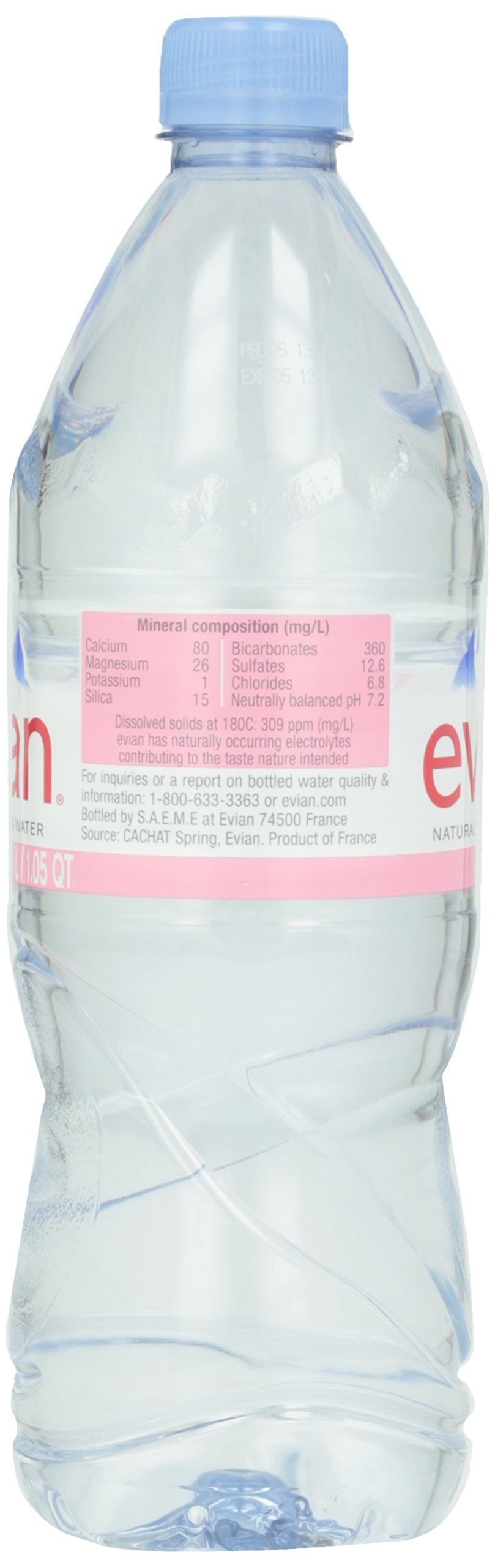 Evian Natural Spring Water, 1.0 Liter, 33.8-Ounce, 6-Count by evian (Image #5)