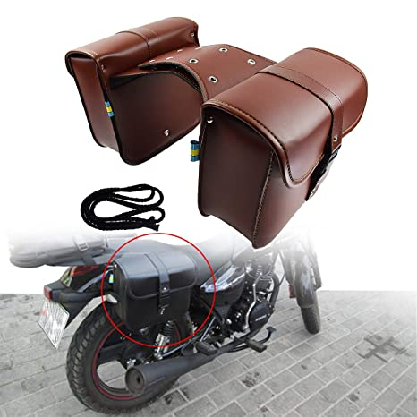 17L Large Capacity Saddlebags Tool Bag for Scooter Honda Suzuki Yamaha HD Street Sportster Softails Touring Dyna Saddle Bag for Motorcycle Panniers Bags for Bicycle Bike