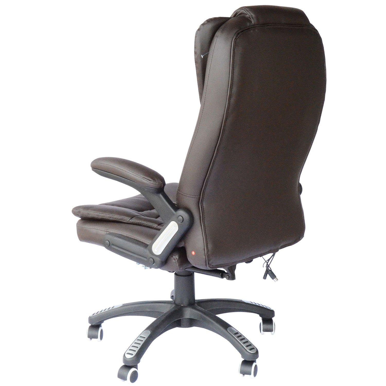 Amazon Hom High Back Executive Ergonomic PU Leather Heated