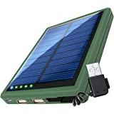 5000mAh Solar Power Bank Phone Charger with Emergency Backup Solar Charging Panel by ReVIVE - Dual USB Port Portable External Battery Pack - For Apple, Samsung, LG, Smartphones, & More Mobile Devices