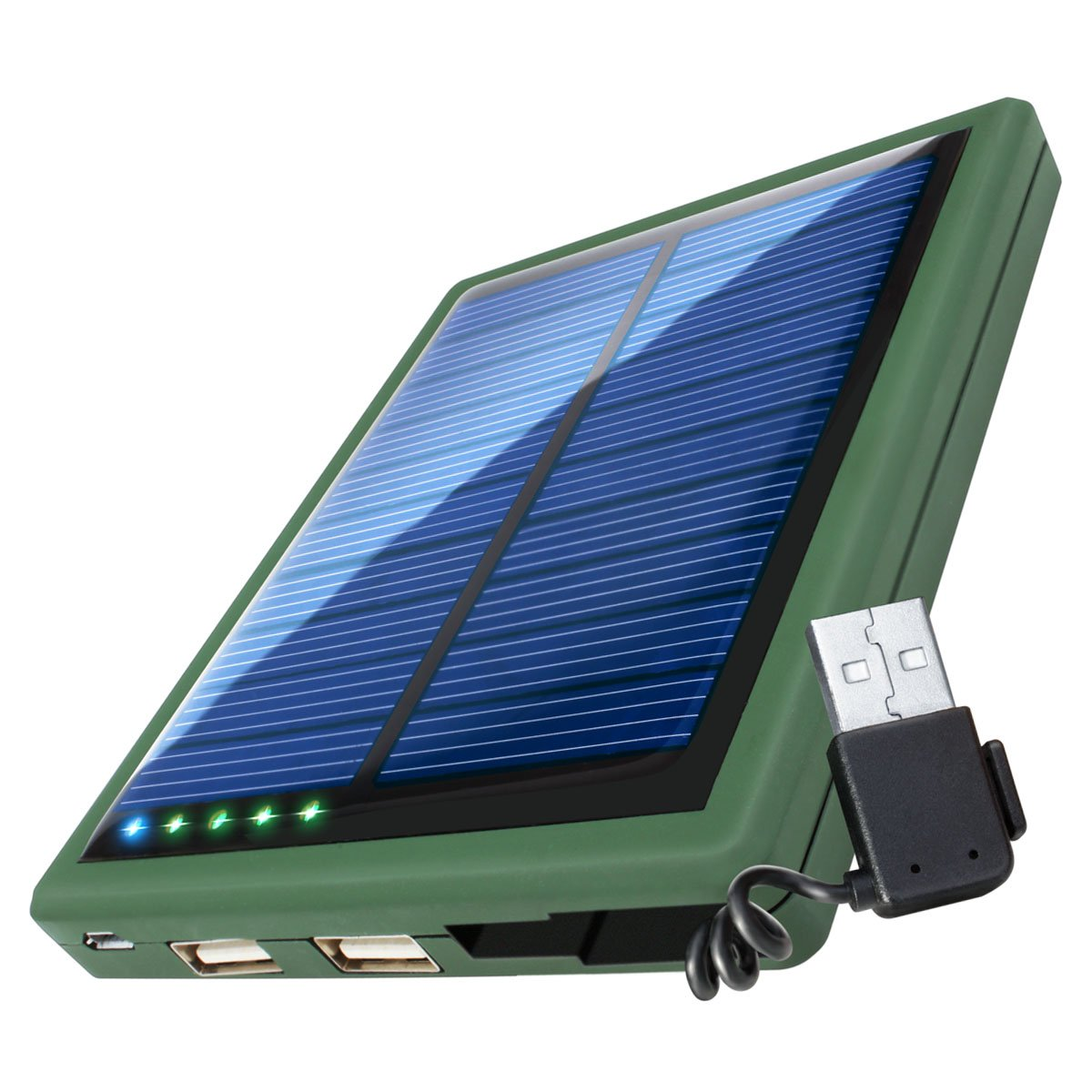 Revive 5000mAh Solar Power Bank Phone Charger with Emergency Backup Solar Panel Dual USB Port Portable External Battery Pack for Charging Phones, Bluetooth Headphones, Wearables, More