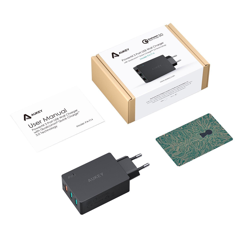 Aukey Quick Charge 3.0 - Cargador de pared, 43,5 W, 3 ...
