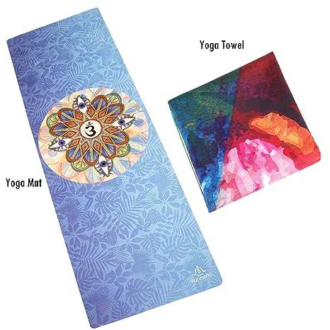 Amazon.com : BELLAMORE GIFT Yoga Mat Yoga Towel Set Soft ...
