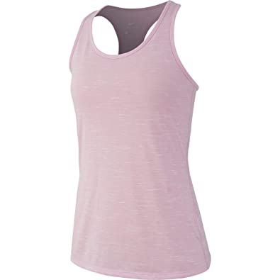 1479c82e8 Nike Women s Dri Fit Legend Training Tank Pink Rise Heather White Size Small