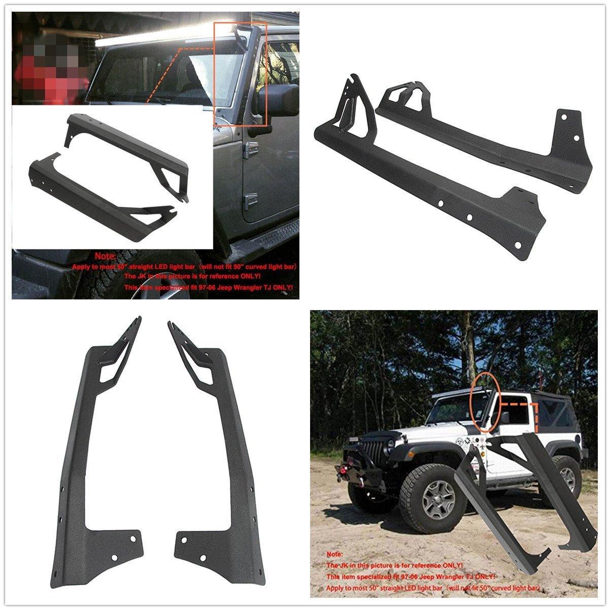 Fit Jeep Wrangler Jk 2007 2017 Offroad Light Bar Kit Powlab 52 Inch Wiring Harness For 6000k