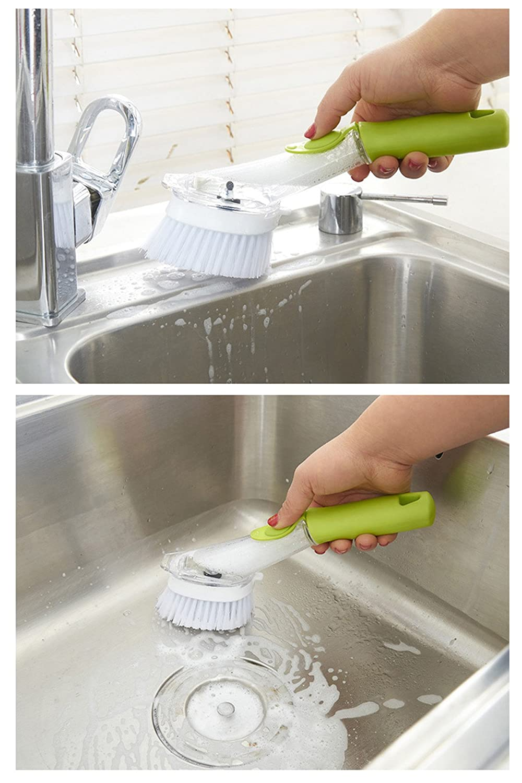 Soap Dispensing Palm Brush All-Purpose Scrubber