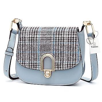 4838624d Amazon.com | Yoome Hit Color Women Shoulder Bag with British Style Plaid  Saddle Bag Purse Retro Mini Evening Satchel Wedding Party Handbag Classic  Clutch ...