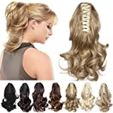 Claw Ponytail Extension Short Jaw Ponytails Pony Tail Hairpiece 145G Thick Clip in Hair Extensions Synthetic Fibre for Women