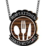 Yaya Cafe Moms Kitchen Cooked With Love Kitchen Wall Door Hanging (Brown_9 Inch X 11 Inch (Approx.)