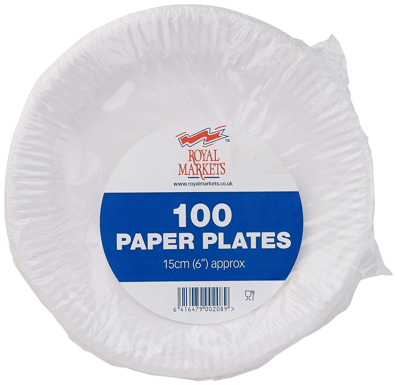 Royal Markets - Platos desechables (100 unidades, 15 cm)