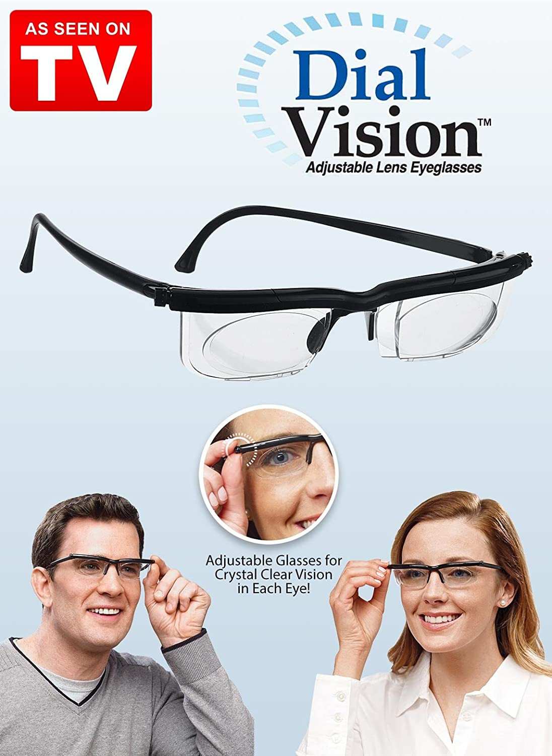 f0c4be3288 Dial Vision Adjustable Eyeglasses for Near and Far View  Amazon.co.uk   Health   Personal Care