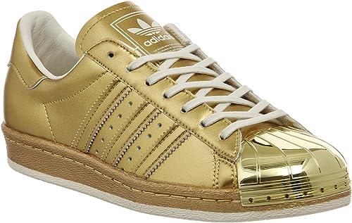 adidas Superstar 80s Metallic Pack, Gold Metallic Gold Metallic Off White