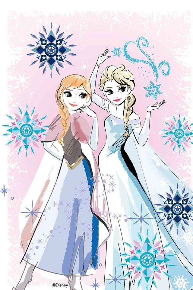 ディズニー 『アナと雪の女王』アナ,エルサ iPhone(640×960)壁紙画像