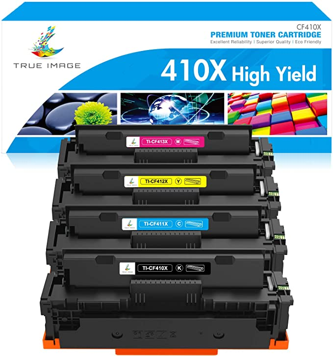 Laser-Jet M477fdw All-in-one Color Printer CF410 A//X black//CF411 cyan//CF412 Yellow//CF413 Magenta 4 Compatible Laserjet Pro MFP M477 Series Ink Toner Cartridge Replacement for HP 410A//X