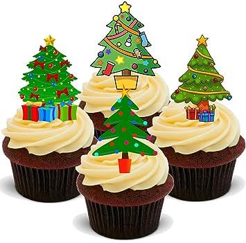 Weihnachten Weihnachtsbaum Mix 12 Essbare Standup Kuchen Deko
