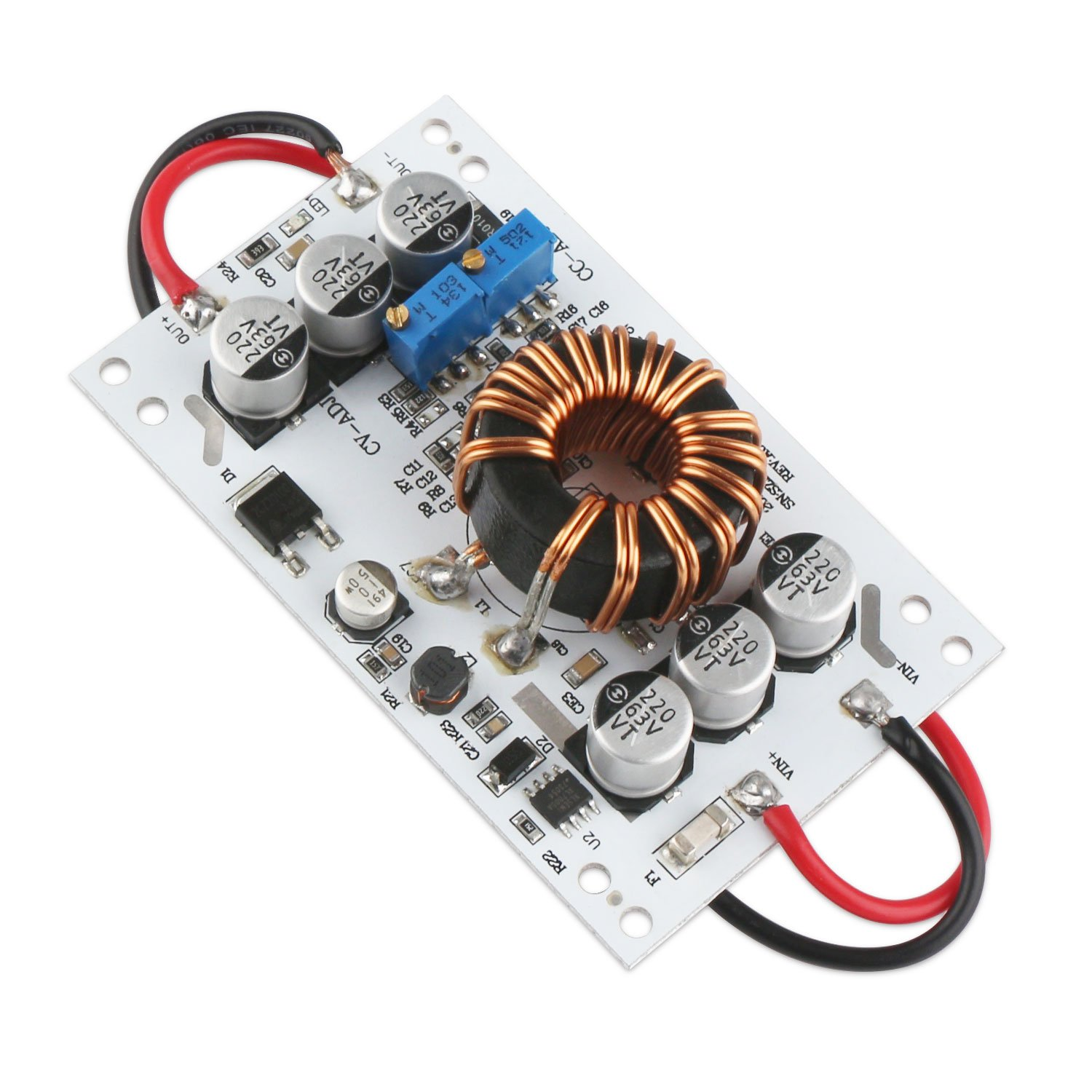 DC Boost Converter, DROK Voltage Step Up Converter Board 600W Non-isolated Power Transformer Module 10V-60V 12V Step-up to 12V-60V 24V 10A CC CV Volt Regulator by DROK (Image #7)