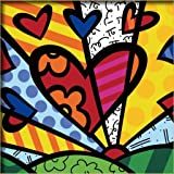 """Diy oil painting, paint by number kits for kids - Colorful heart 8""""X 8""""."""