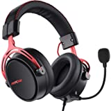 Mpow Air SE Gaming Headset for Xbox One PS4 PS5 PC Switch - Gaming Headphones with Fixed Mic, Over-Ear Gaming headsets with 3