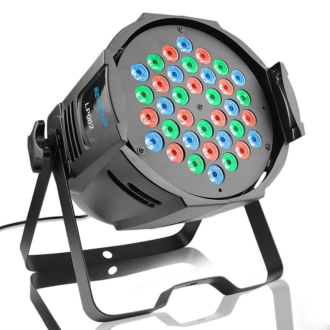 3 RGBW LED Luces dj Luces discoteca led Luces escenario BETOPPER Luces dmx Karaoke profesional Iluminacion dj 54 LP001-H