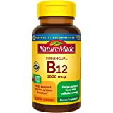 Nature Made Sublingual Vitamin B12 1000 mcg Micro-Lozenges, 150 Count for Metabolic Health†, pink