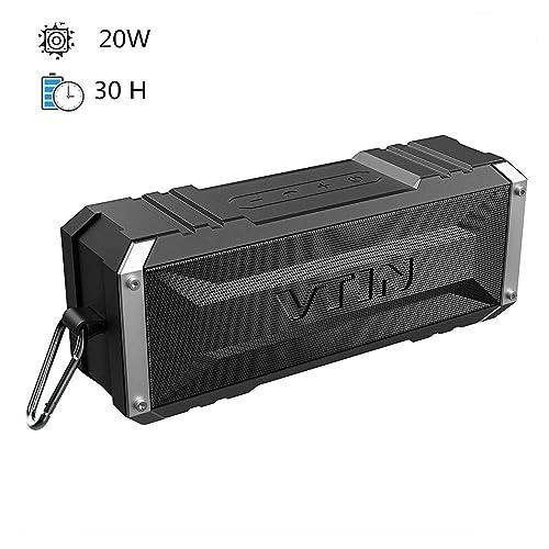 Vtin Punker Altavoz Bluetooth Premium 20W con Radiador Pasivo 30 Horas de Emisión Continua Bluetooth 4 2 Altavoz inalámbrico portátil con para Huawei XiaoMi Nexus HTC etc